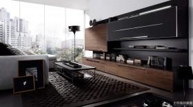 现代简约客厅组合柜图片