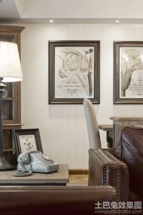 仿古风格家装手绘墙画效果图