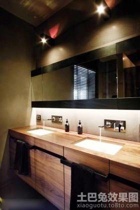 实木浴室柜装修效果图