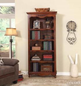 复古风格家用书柜效果图