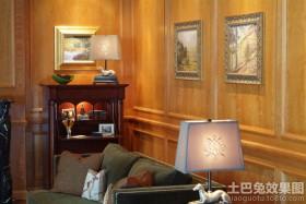 室内原木护墙板图片