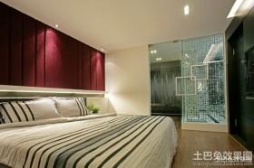 卧室玻璃隐形门装修