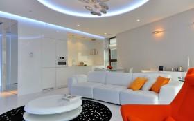 混搭风格色彩客厅装修