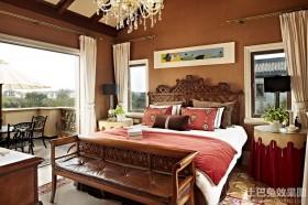 东南亚两室两厅卧室装修风格