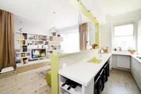 混搭风格40平小公寓厨房效果图