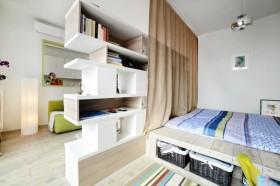 40平米小公寓客厅卧室隔断设计