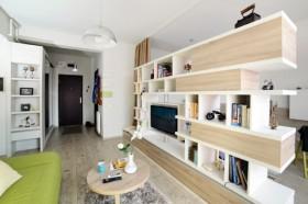 40平米小公寓客厅电视架效果图