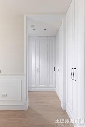 简约欧式风格两房装修壁柜效果图