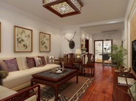 中式风格二居室小客厅装修效果图