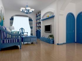 地中海风格家居80平米小户型客厅装修效果图