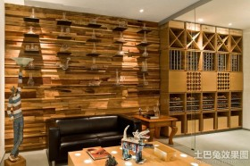 客厅原木装修效果图