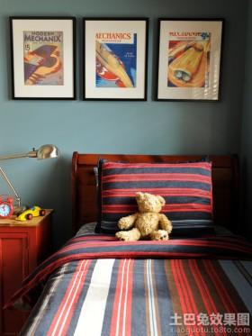 卧室有框手绘装饰画图片