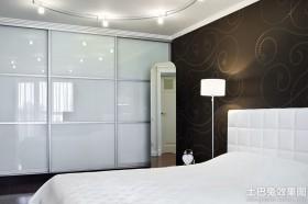 卧室衣柜玻璃门图片