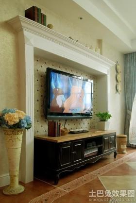 欧式风格客厅欧式风格电视背景墙设计效果图
