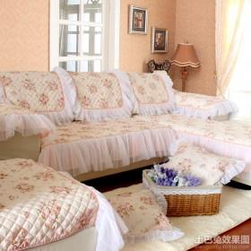 田园风格沙发垫图片