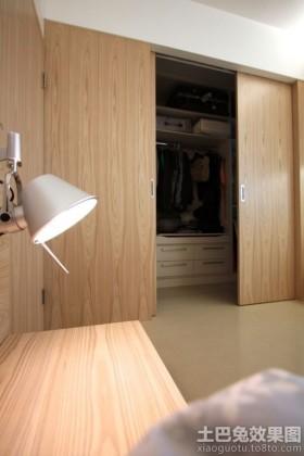 实木衣帽间门图片