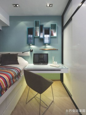 卧室简约折叠书桌效果图