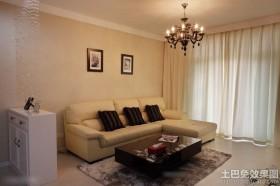 现代风格二居室客厅装修图片