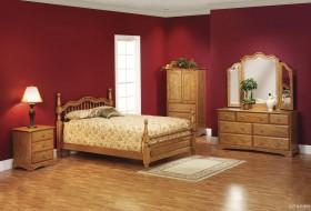 卧室双叶实木家具图片大全