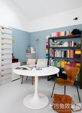 混搭风格书房设计图片
