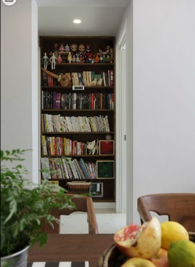 时尚家居装修墙面书柜装修效果图