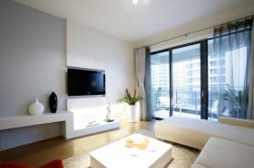 现代时尚80平米小户型家庭客厅装修效果图