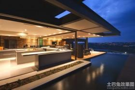 豪华别墅现代风格外观效果图