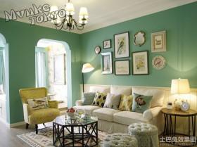 法式田园风格客厅装修效果图片