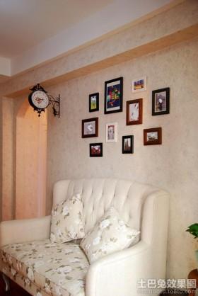 欧式风格照片墙沙发装修效果图大全2016图片