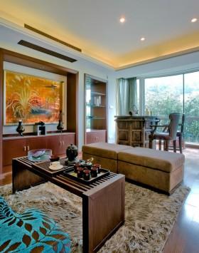 混搭风格客厅茶桌茶具图片
