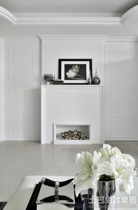 白色简约风格小户型家庭装修图片