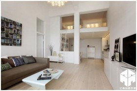 北欧loft风格三居室客厅装修效果图