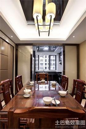 现代中式风格三房装修餐厅吊灯图片