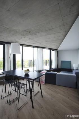黑白极简主义风格两室两厅装修效果图