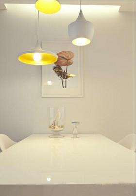 白色餐厅led吊灯效果图大全