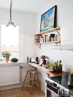 室内实木工作台图片