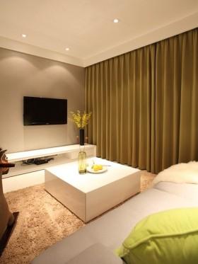 简约风格80平米二居室客厅装修设计效果图欣赏