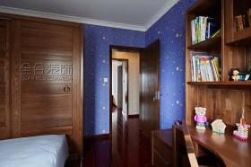 卧室实木书桌书柜图片