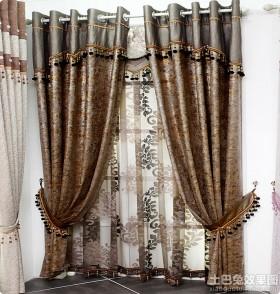 韩式家居短窗帘图片