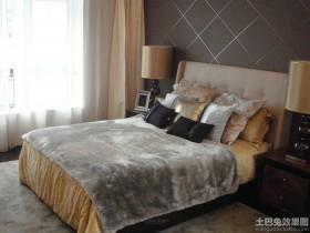 现代130平方米三室两厅卧室装修效果图