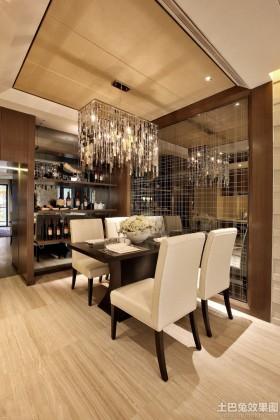 现代家庭两房装修餐厅吊顶效果图