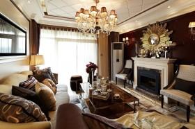 新古典风格二居客厅装修设计