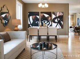 混搭样板房餐厅装饰画图片