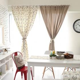 双色混色餐厅窗帘效果图