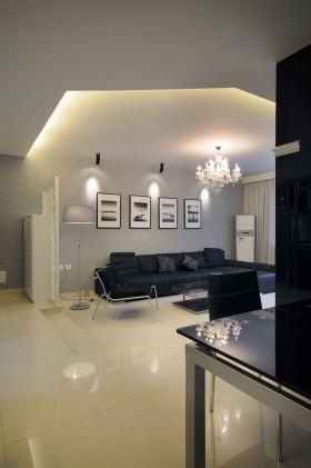 现代简约客厅灯具效果图片