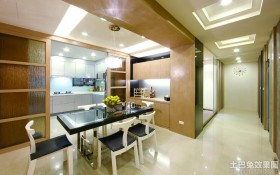 现代新古典风格四室两厅餐厅装修效果图