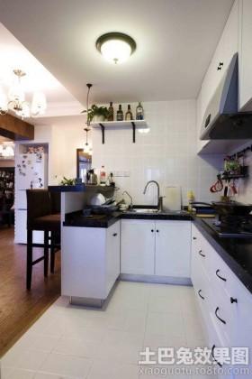 白色厨房装修效果图大全2015图片