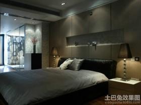 130平现代三室两厅卧室装修效果图