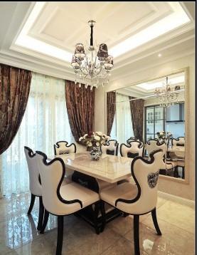 新古典风格两房装修餐厅吊顶效果图