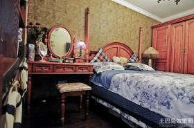 乡村田园风格两室两厅卧室装修效果图